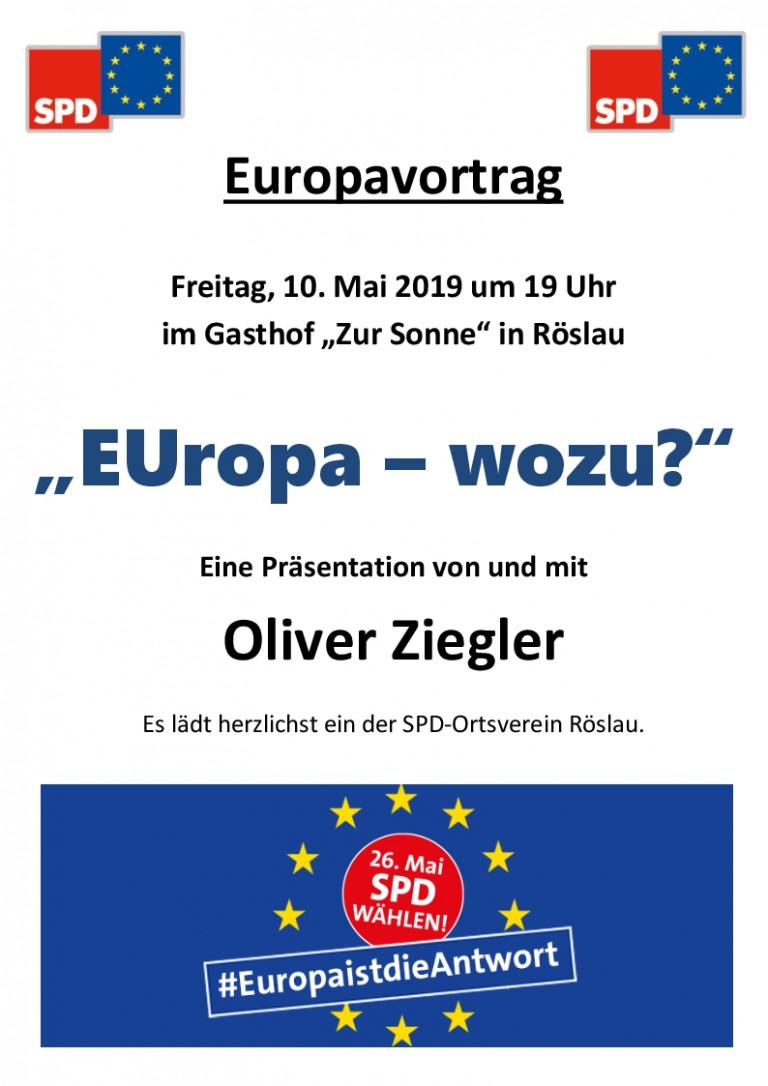 Europa - wozu?